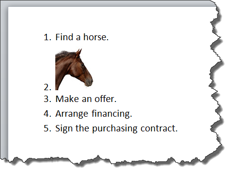 Inserting image into ordered list 2