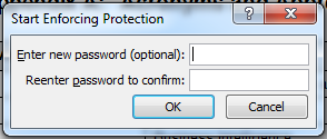 MS Word 2010 Restrict Formatting and Editing 4 Enter Password