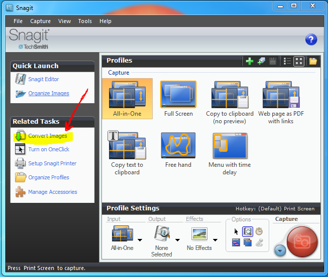 How to Batch Convert Image Formats with Snagit