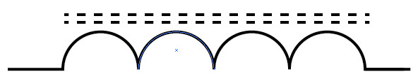 how to draw an induction coil symbol with adobe