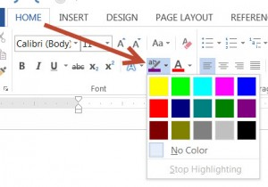 MS Word Text Highlight Color