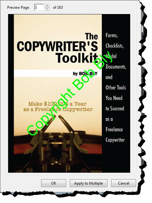Adobe Acrobat PDF Add Watermark 2