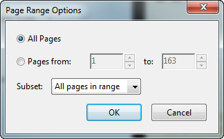 Adobe Acrobat PDF Add Watermark Page Range Options
