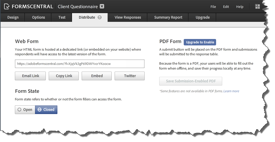 AdobeForms Central Templates 5 Distribute