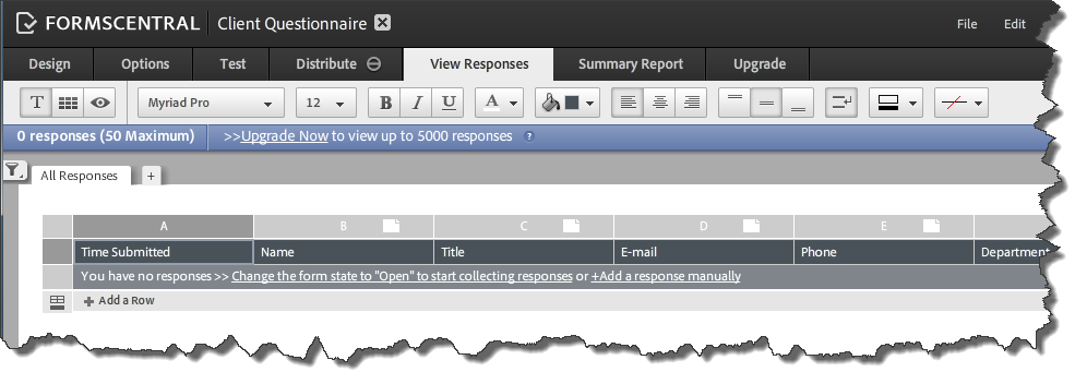 AdobeForms Central Templates 6 View Response