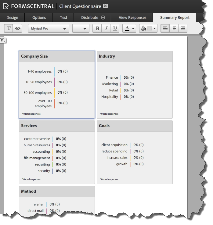 AdobeForms Central Templates 7 Summary Report