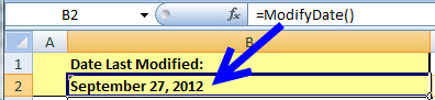 How to Display the Last Modification Date of a MS Excel Workbook