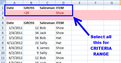 How to Filter a MS Excel Data Set with Multiple Criteria (Advanced Filtering) 5