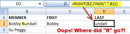 How to Parse and Extract First and Last Names from a MS Excel Text String 3
