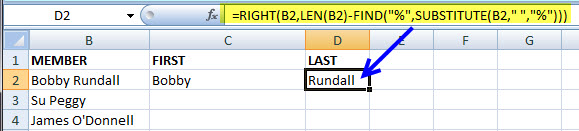 How to Parse and Extract First and Last Names from a MS Excel Text String 4