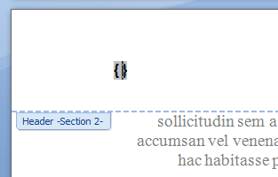 MS Word Running Header 01