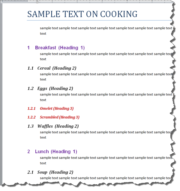 How To Apply Multilevel Numbering To Ms Word Tables Technical