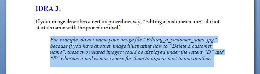 MS Word New Paragraph Style Out of Text 2