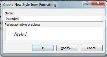 MS Word New Paragraph Style Out of Text 4 Create New Style from Formatting