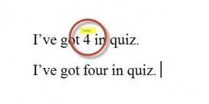 MS Word Error in Number Spelling