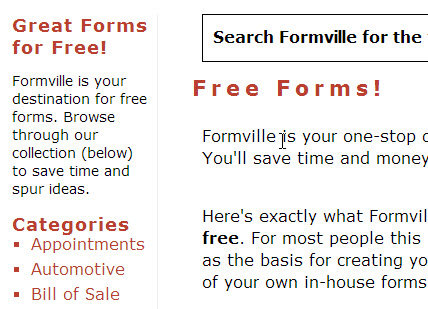 Free Forms for Your Office or Personal Use