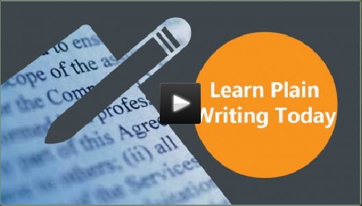 "New Video Online Course: ""Learn Plain Writing Today!"""