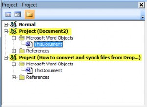 MS Word VBA 1