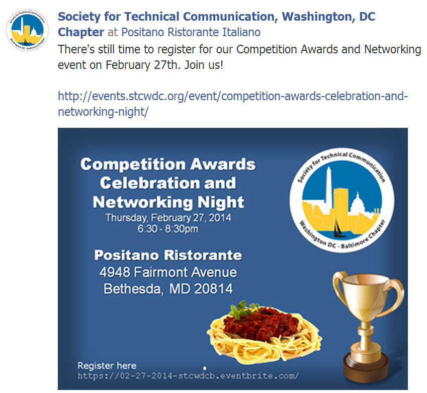 STC WDCB Competition Awards and Networking event on February 27th