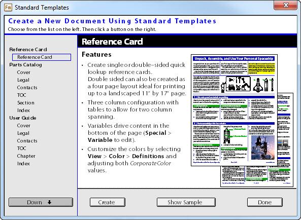 Adobe FrameMaker 12 Default Document Templates   Technical ...
