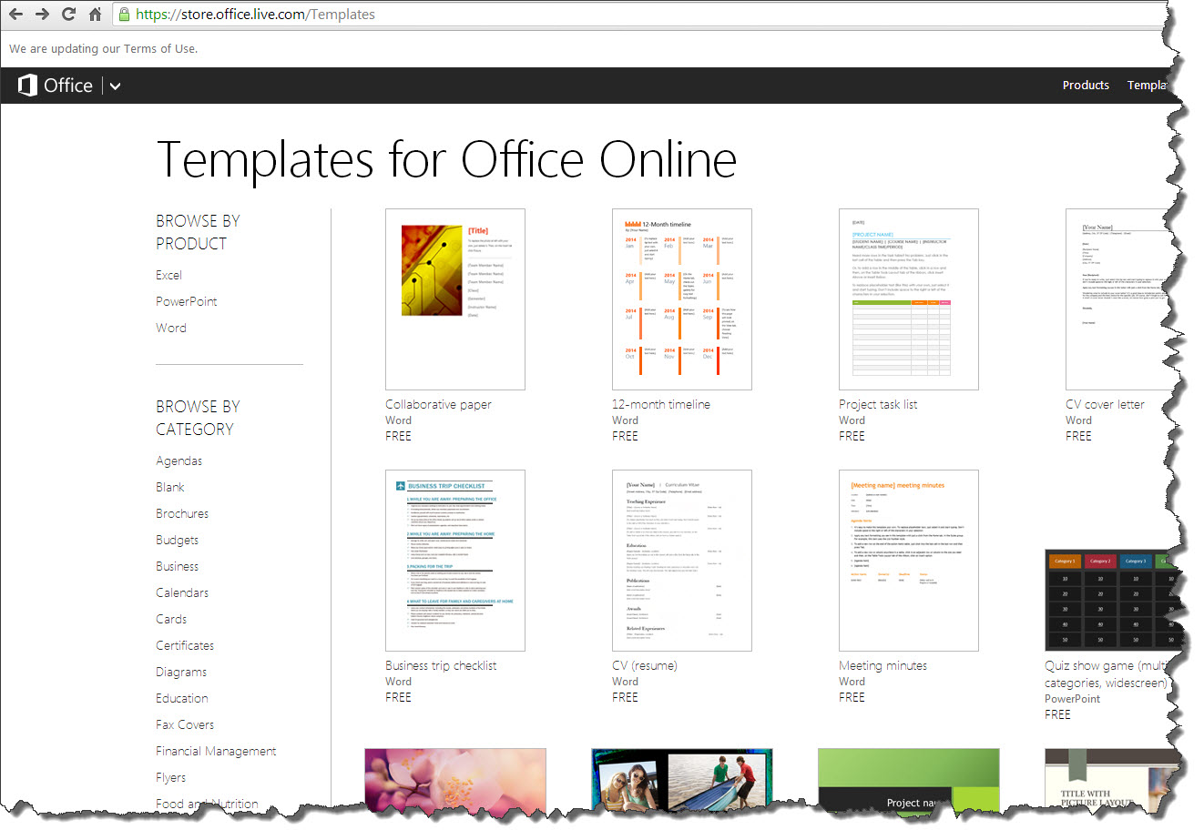 ms office templates