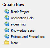 How to Create a New Project in Adobe RoboHelp 11