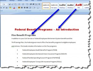 How to Create Dynamically Updated Running Headers and Footers in MS Word 2007