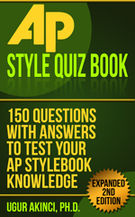 "Free Amazon Kindle eBook Download, July 22-26: ""AP Style Quiz Book"""