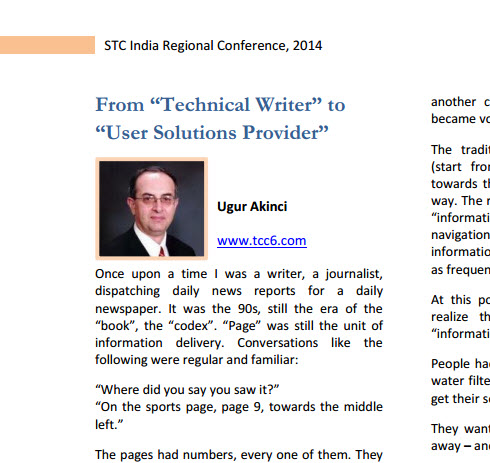 Article Published in STC India Regional Conference Newsletter