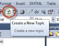 RoboHelp 11 New Topic Button