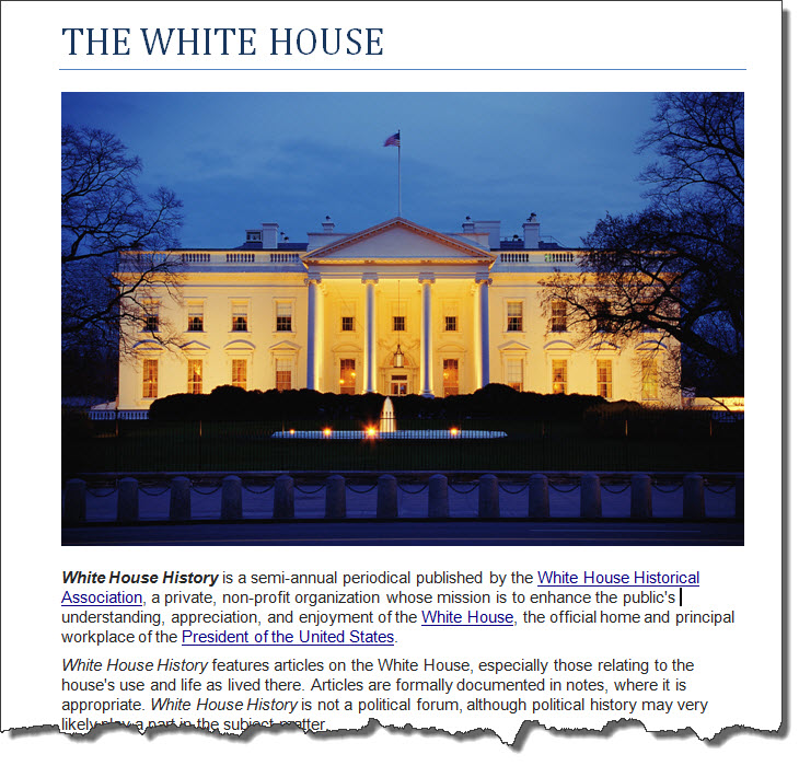 WHITE HOUSE with Image