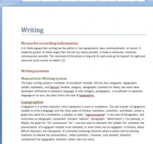 Create a Heading Browser and Navigate Your MS Word Document Easily by Using Styles