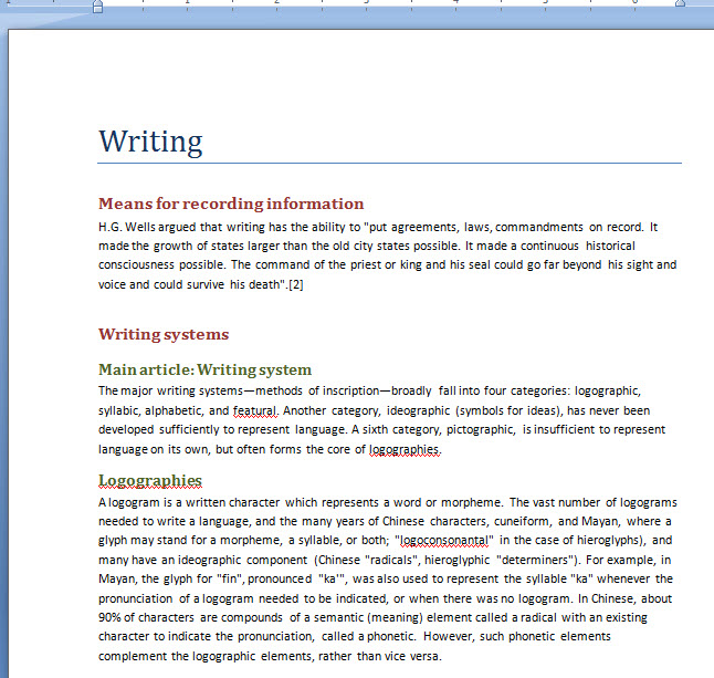 how to create a heading or footing in word