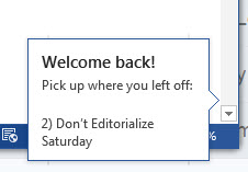 """Welcome Back"" and ""Insert Pictures"" Features in MS Word 2013"
