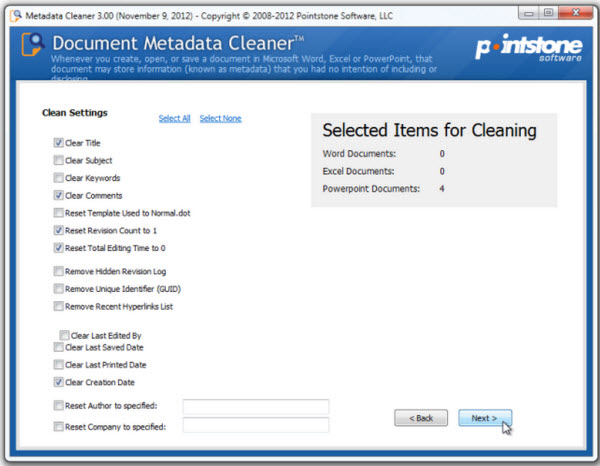 How to Batch Delete Sensitive Metadata from a Set of MS Word, Excel, PowerPoint Files