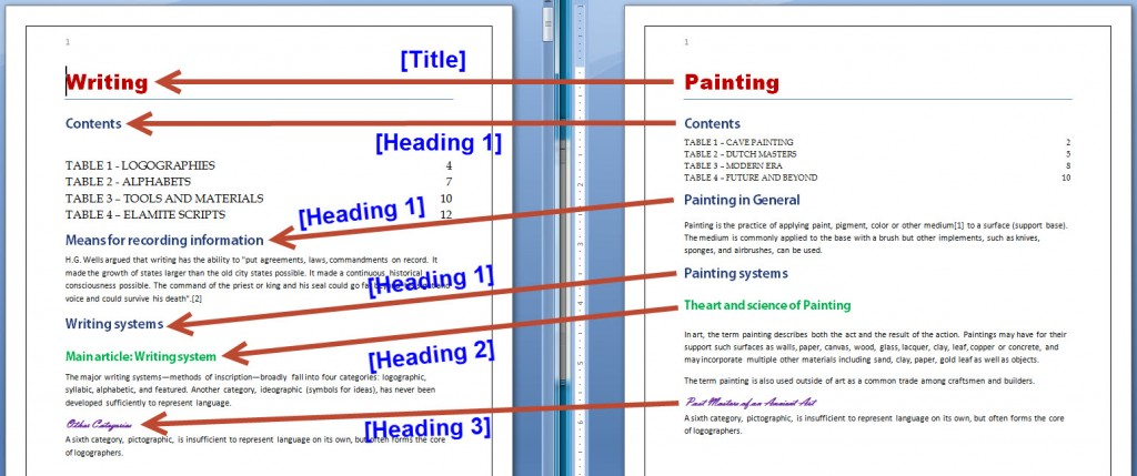 Two MS Word Documents FINAL MAPPING