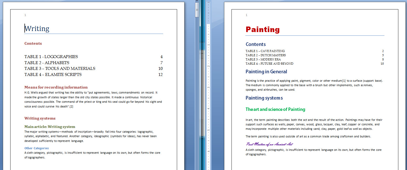 how to create paragraph styles in word
