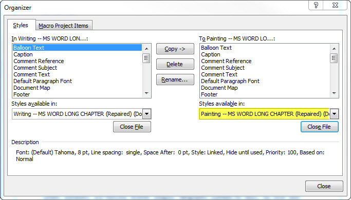 Two MS Word Documents_ORGANIZER 2