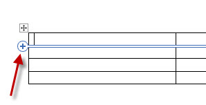 MS Word 2013 Add Row to Table