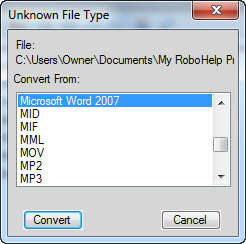 Unkown FIle Type