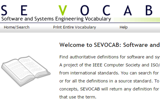 Software and Systems Engineering Vocabulary